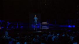 Rev. Samuel Rodriguez preaching via hologram