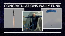 White's Chapel's greeting to Wally Funk
