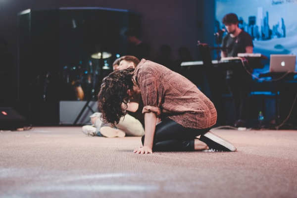 bowing down in worship prayer repentance adoration awe