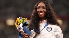 Olympic silver medalist Keni Harrison