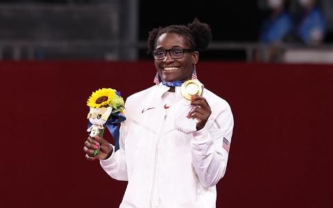 Olympic wrestling gold medalist Tamyra Mensah-Stock