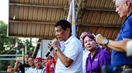 Rodrigo Duterte on the stage