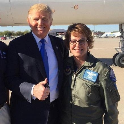 President Donald Trump with AZ Sen. Wendy Rogers
