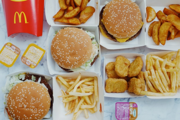 McDonalds junk food on the table