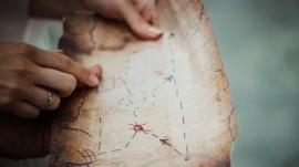treasure hunting map