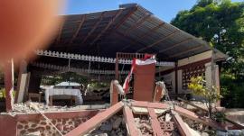 Destruction in Haiti following the 7.2-magnitude earthquake