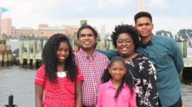 Love and Hope Ministries founders Rev. Jabez Rapaka, wife Gloria, and their children