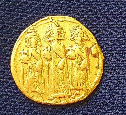 Byzantine-era gold coin