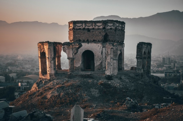 Destroyed building in Kabol, Afghanistan