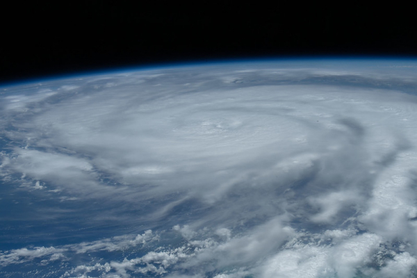 Hurricane Ida is pictured as a category 2 storm (Aug. 28, 2021)