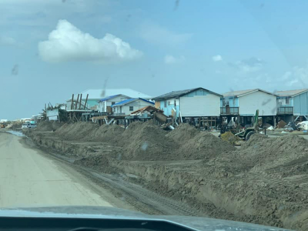 Devastation left by Hurricane Ida in Grand Isle, Louisiana