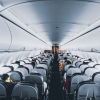 people seated inside a commercial plane