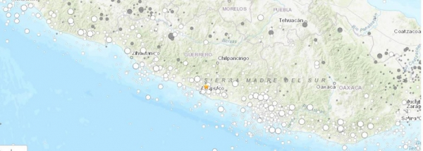 USGS map of the September 7, 2021 earthquake in Acapulco, Mexico