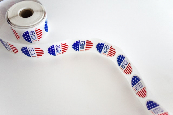 """I voted"" sticker spool"