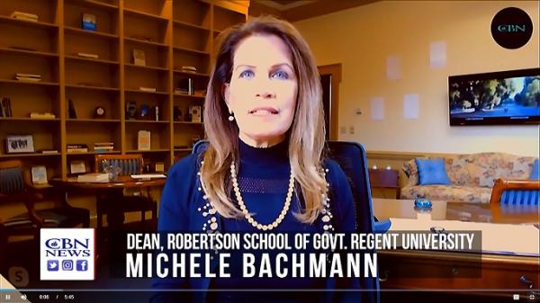 Former U.S. House Intelligence Committee member Michele Bachmann (video screenshot / The Global Lane / CBN News)
