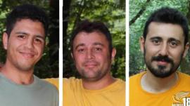 Iranian Christians Ahmad Sarparast, Morteza Mashoodkari and Ayoob Poor-Rezazadeh