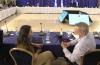 Israeli Health Minister Nitzan Horowitz speaking with Interior Minister Ayelet Shaked