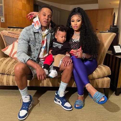 Nicki Minaj and her baby