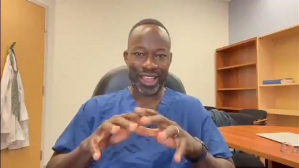 Canadian doctor Dr. Kwadwo Kyeremanteng