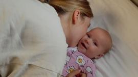 Sadie Robertson Huff and baby Honey James
