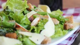 Salad lettuce meat food healthy vaccine