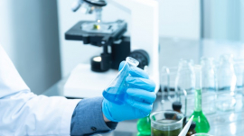 scientist working in a medical laboratory