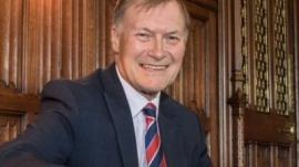 Conservative British Member of the Parliament David Amess